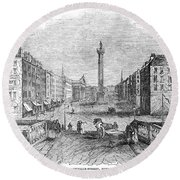 Ireland: Dublin, 1843 Round Beach Towel