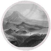 Ireland: Lough Conn, C1840 Round Beach Towel