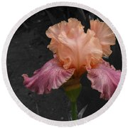 Iris2 Round Beach Towel