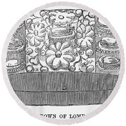 Iron Crown Of Lombardy Round Beach Towel