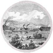 Iron Works, 1855 Round Beach Towel