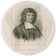 Isaac Barrow, English Mathematician Round Beach Towel