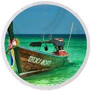 Island Taxi  Round Beach Towel