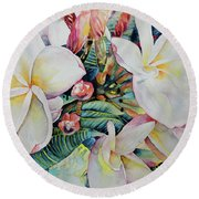 Islands Beauties Round Beach Towel