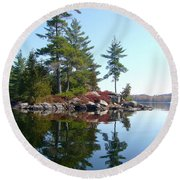Isle - Natural Reflection Round Beach Towel