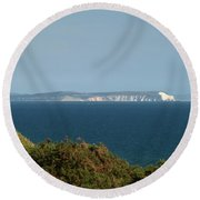 Isle Of Wight  Round Beach Towel