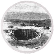 Israel: Well And Troughs Round Beach Towel