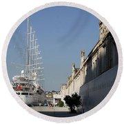 Istanbul Cruise Ship Terminal Round Beach Towel