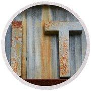 It Rusty Sign Round Beach Towel