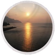 Italian Sunrise Round Beach Towel