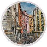 Italian Village 2 Round Beach Towel