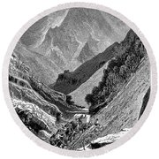 Italy: Carrara Mountains Round Beach Towel
