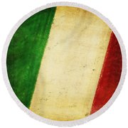 Italy Flag Round Beach Towel