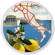 Italy Round Beach Towel