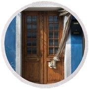 Italy Old Door Round Beach Towel by Joana Kruse