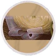 Ivory Round Beach Towel