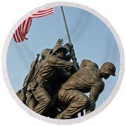 Iwo Jima Memoria 2 Round Beach Towel