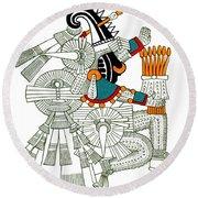 Iztlacoliuhqui, Aztec God Of Frost Round Beach Towel