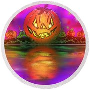 Jack And Friends By The Waters Edge Round Beach Towel