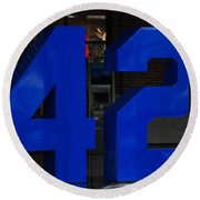 Jackie Robinson 42 Round Beach Towel by Rob Hans