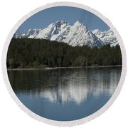 Jackson Lake Round Beach Towel