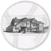 James A. Garfield Round Beach Towel