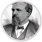 James Clair Flood (1826-1889) Round Beach Towel
