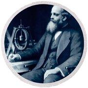 James Clerk Maxwell, Scottish Physicist Round Beach Towel