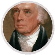 James Madison, 4th American President Round Beach Towel by Photo Researchers