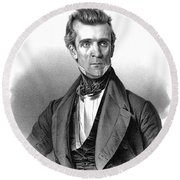 James Polk, 11th American President Round Beach Towel by Photo Researchers