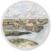 Jamestown Settlement, 1622 Round Beach Towel
