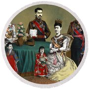Japan: Imperial Family Round Beach Towel