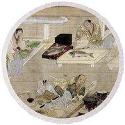 Japan: Kitchen, C1375 Round Beach Towel