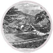 Japan: Nagasaki, 1858 Round Beach Towel