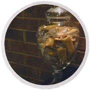 Jar Of Biscotti Round Beach Towel by Sandi OReilly