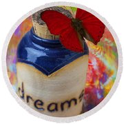 Jar Of Dreams Round Beach Towel