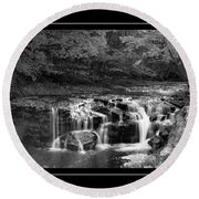 Java Falls Monochrome Round Beach Towel