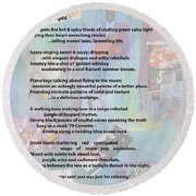 Jazz Changes - Poem Round Beach Towel