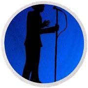 Jazz Singer Round Beach Towel