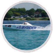 J.d. Byrider Offshore Racing Round Beach Towel