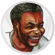 Jean Pierre Dikongue Pipa Round Beach Towel