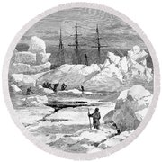 Jeannette Expedition Round Beach Towel