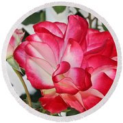 Jean's Roses Round Beach Towel