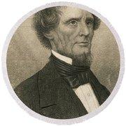 Jefferson Davis, President Round Beach Towel