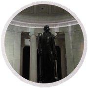 Jefferson In The Dark Round Beach Towel