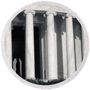 Jefferson Memorial Round Beach Towel
