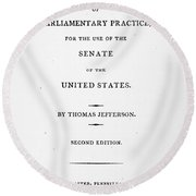 Jefferson: Title Page, 1810 Round Beach Towel