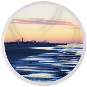 Jersey Shore Sunrise Round Beach Towel