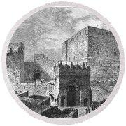 Jerusalem: Citadel Round Beach Towel