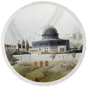 Jerusalem Close Up Round Beach Towel